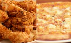 Appetizers, Pizza and Chicken